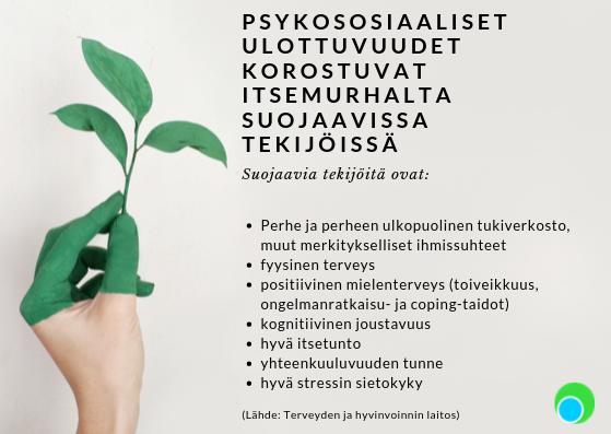 aspect fysioterapia itsemurhien ehkäisy mielenterveyspäivä